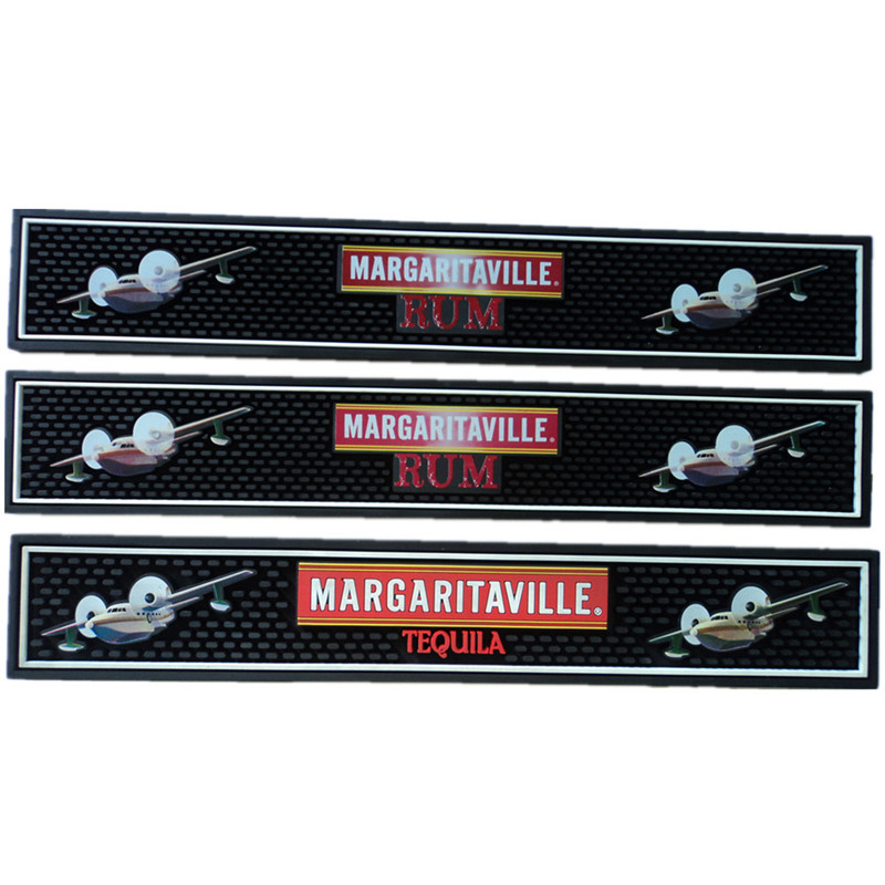 Sublimation Printed Logo Bar Rail Mats