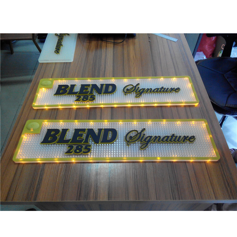 New Design Promotional LED Bar Mat