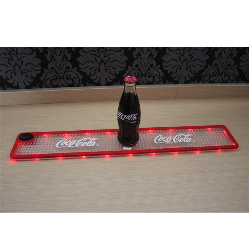 Waterproof Custom Logo LED Bar Mat title=