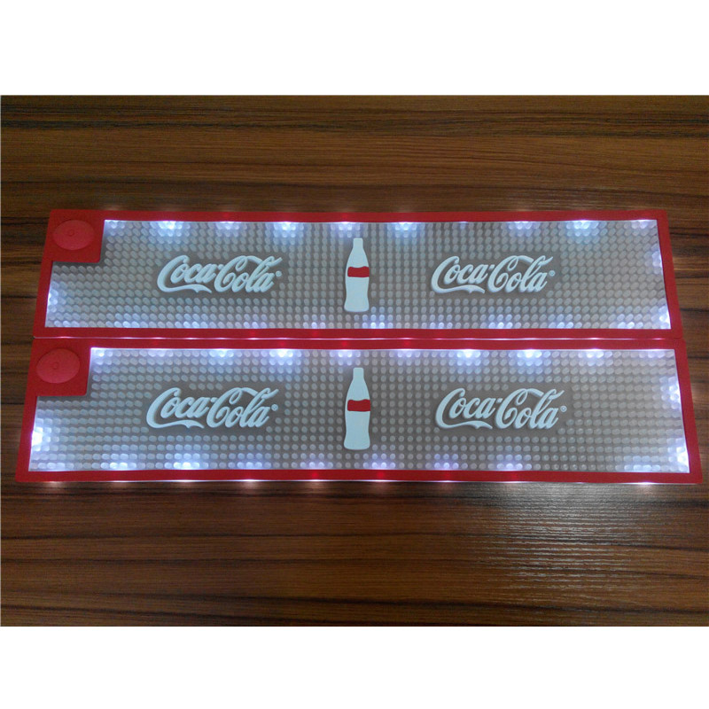 Custom Led Bar Mat Glowing In Dark For Promotions