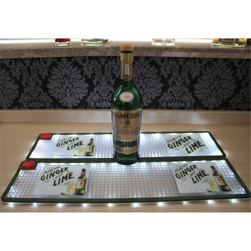 Flashing Custom Brands High Quality LED Bar Mat