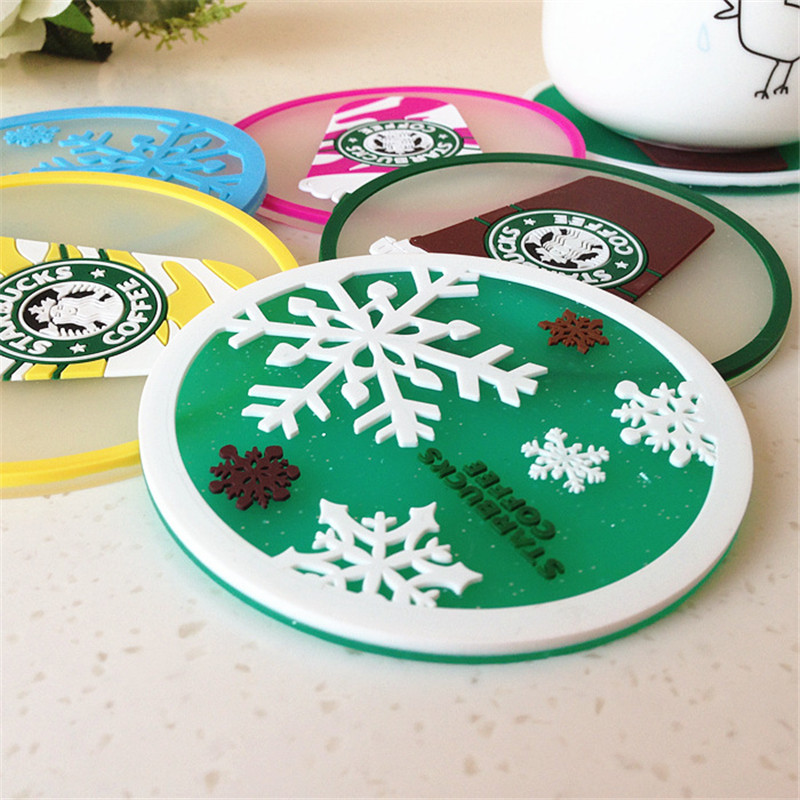 Environmental Custom Logo Cup Mat Coaster title=