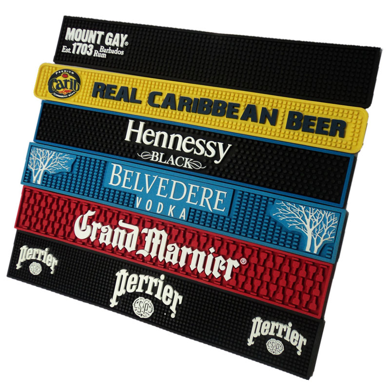 Custom Bar Mats With 2D or 3D Logo