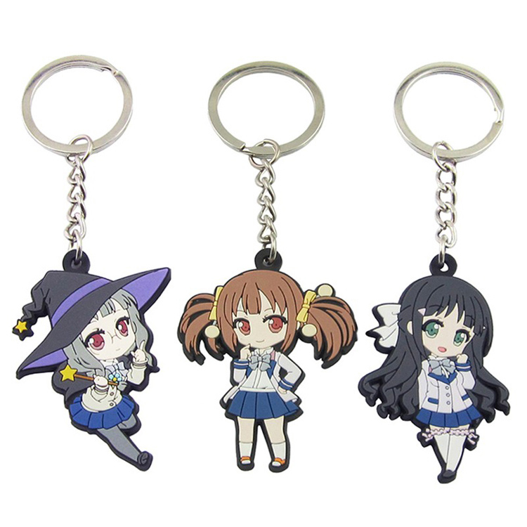 Custom Soft PVC Cartoon Japanese Anime Keychain