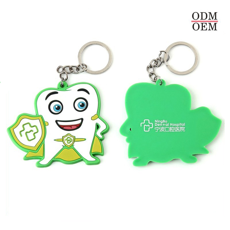 Custom Plane Or 2D Stereoscopic Soft PVC Doll Keychain