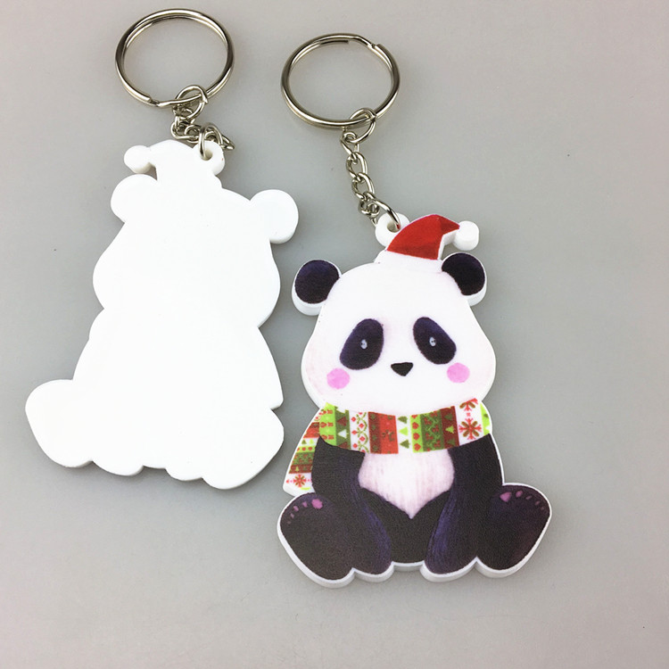 Full Color Printing Custom PVC Rubber Keychain