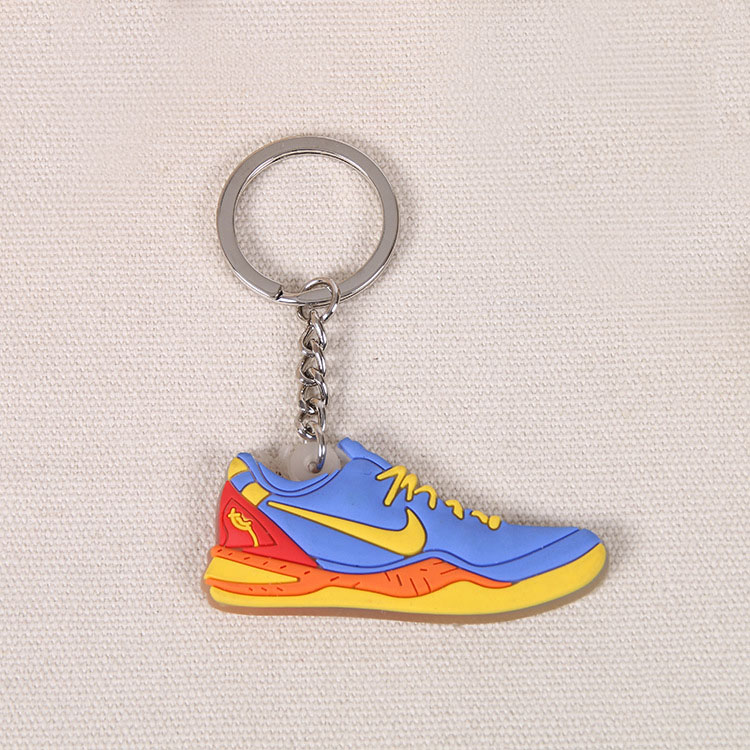Custom PVC Rubber Shoes Keychain title=
