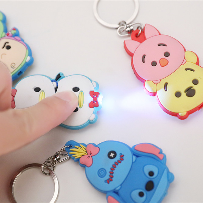 Custom PVC Rubber LED Keychain