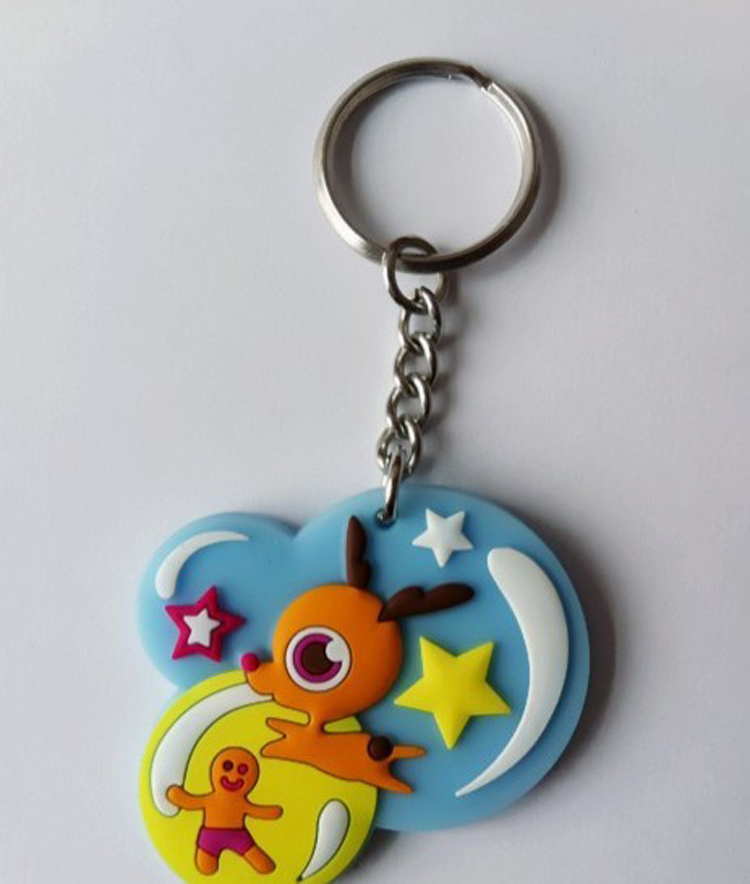 Custom Rubber Keychain With 3D Aspect 7