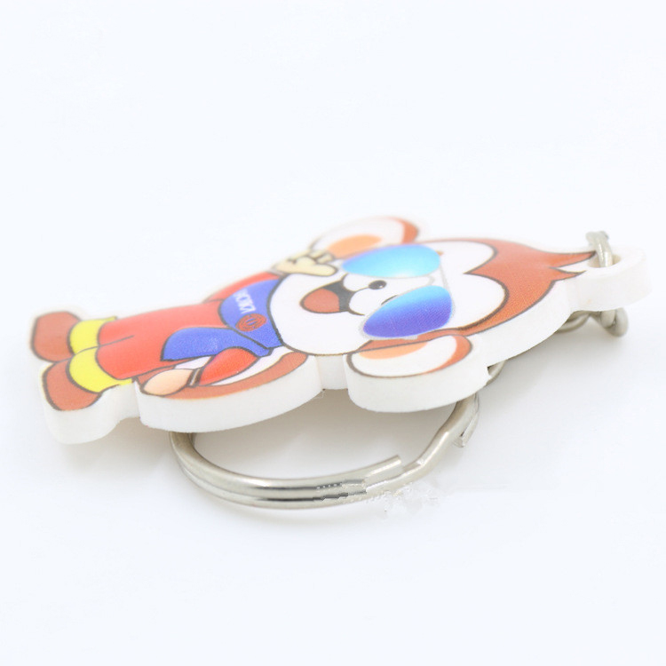 Full Color Printing Custom PVC Rubber Keychain 8
