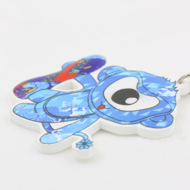 Full Color Printing Custom PVC Rubber Keychain 9
