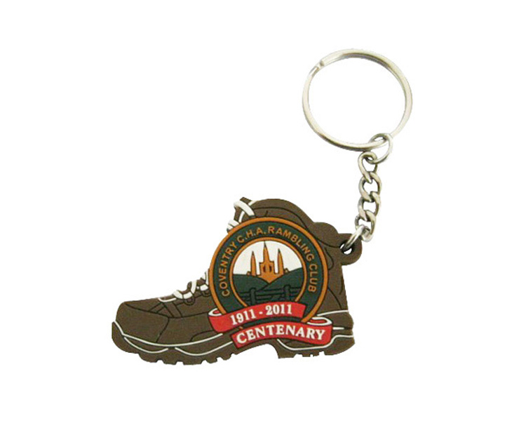 Custom PVC Rubber Shoes Keychain