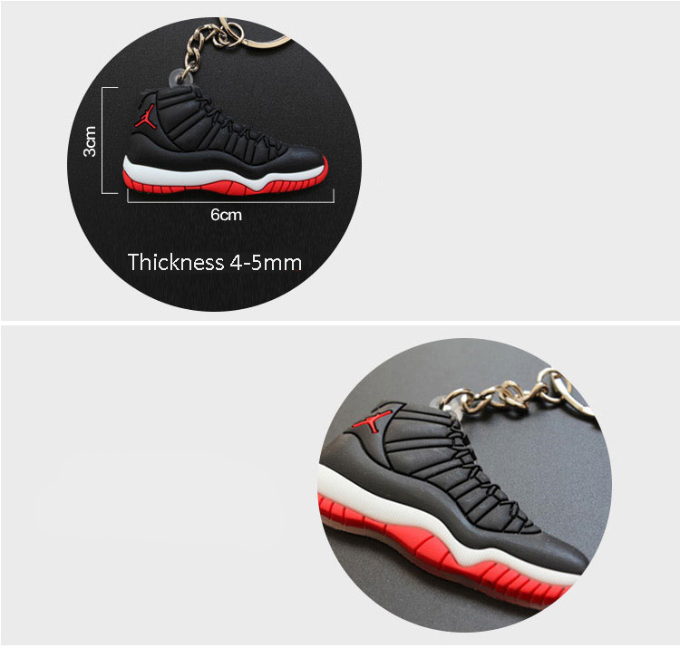 Custom PVC Rubber Shoes Keychain 1