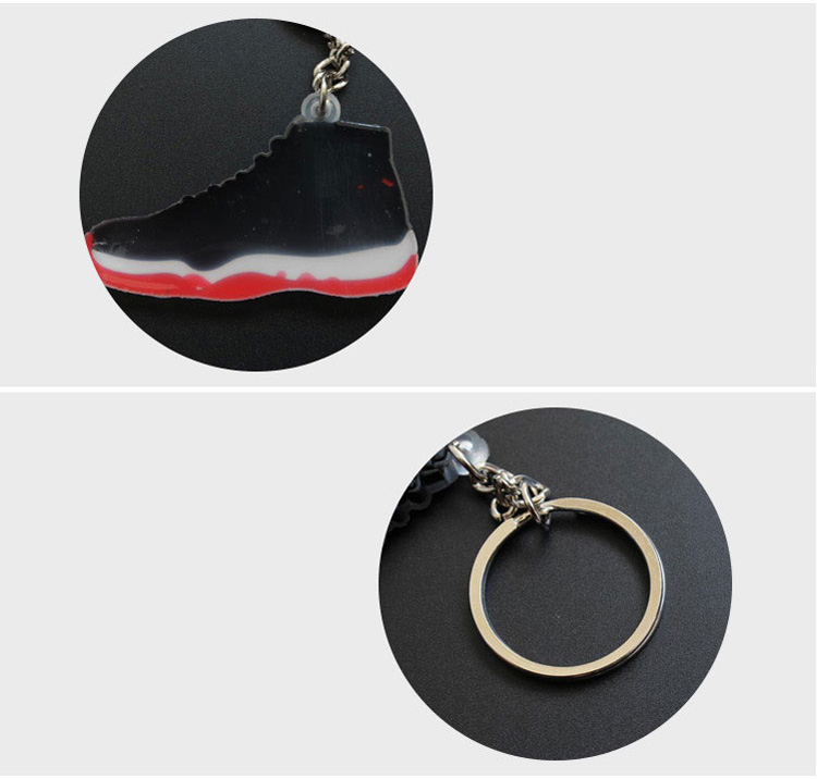 Custom PVC Rubber Shoes Keychain 3